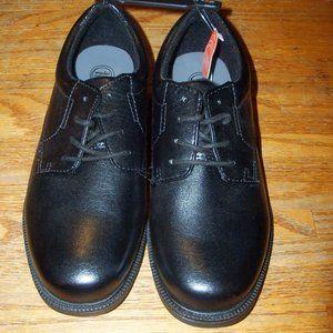 New Size 4 (Big Boy) Boys Black Lace-Up Dress Shoes